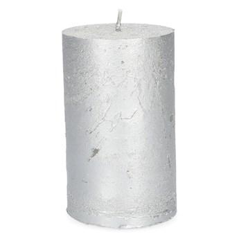 RUSTIC Świeca srebrna 7x11 cm