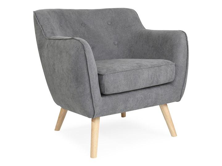 STOKKE NATURAL Fotel tapicerowany szary 77x77x78 cm - Homla