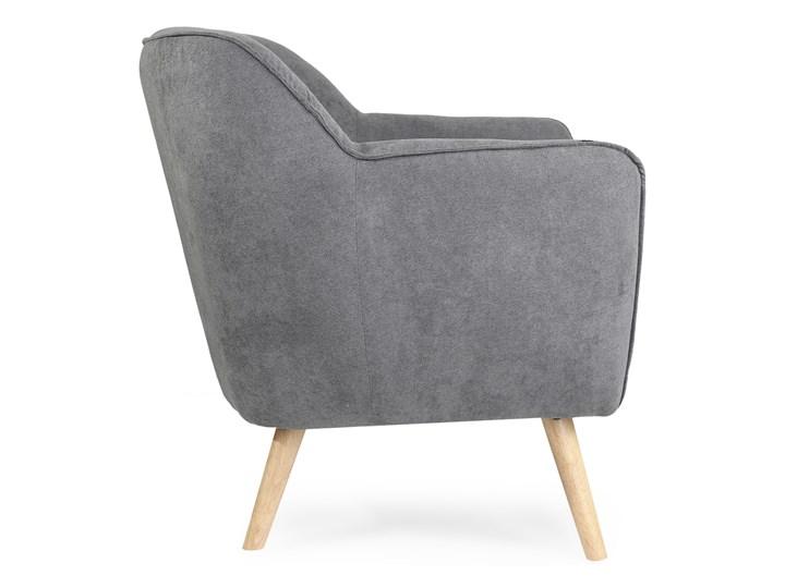 STOKKE NATURAL Fotel tapicerowany szary 77x77x78 cm Szerokość 77 cm Głębokość 77 cm Kategoria Fotele do salonu