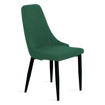 LOUIS Krzesło w tkaninie zielone 44x59x88 cm - Homla