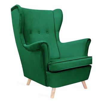 FOSSBY Fotel welurowy zielony 83x55x102 cm