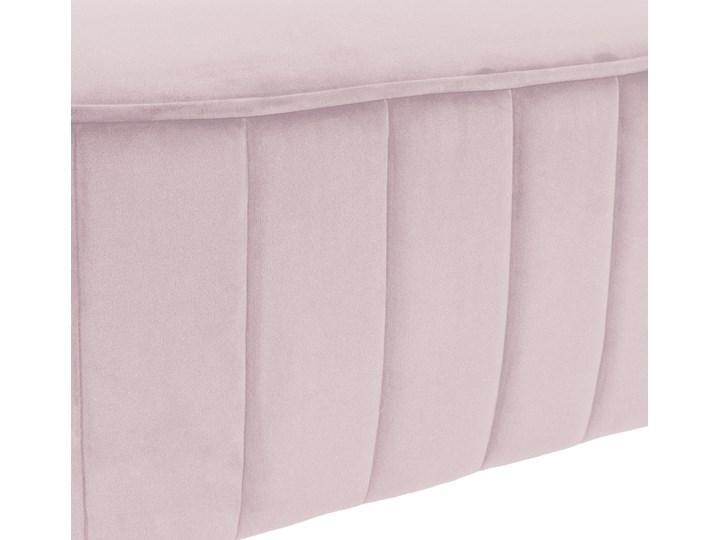 MELBY Ławka welurowa różowa 103x43x23 cm Materiał obicia Tkanina Kolor Różowy