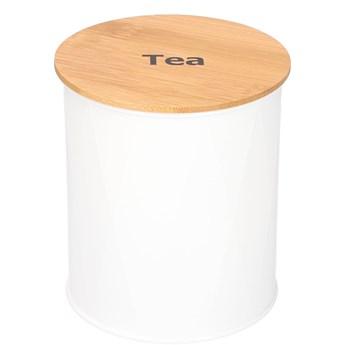 NORRIS Pojemnik na herbatę biały 11x13 cm