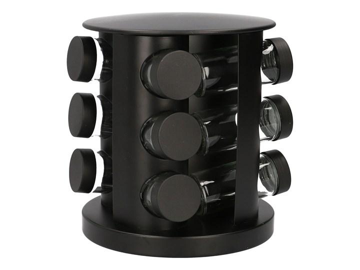 OTTO Stojak z przyprawnikami obrotowy czarny - 12 słoiczków 19x21 cm Zestaw do przypraw Kategoria Przyprawniki