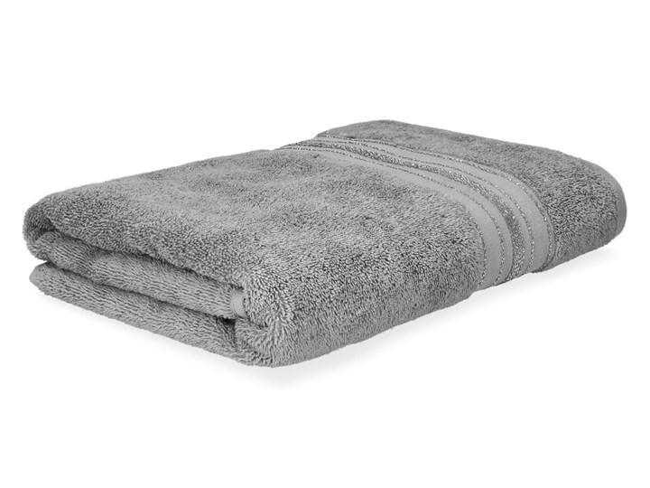 DUKE Ręcznik z paskami lureksowymi szary 70x130 cm - Homla