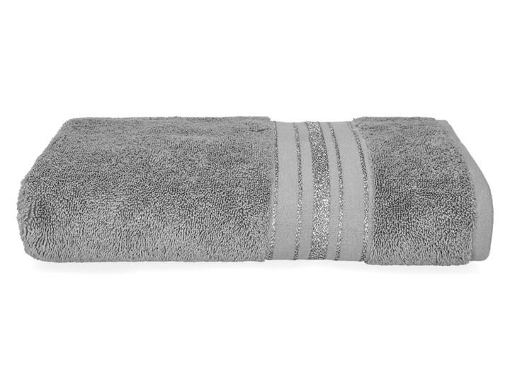 DUKE Ręcznik z paskami lureksowymi szary 70x130 cm Kategoria Ręczniki