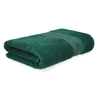 DUKE Ręcznik z paskami lureksowymi zielony 50x90 cm