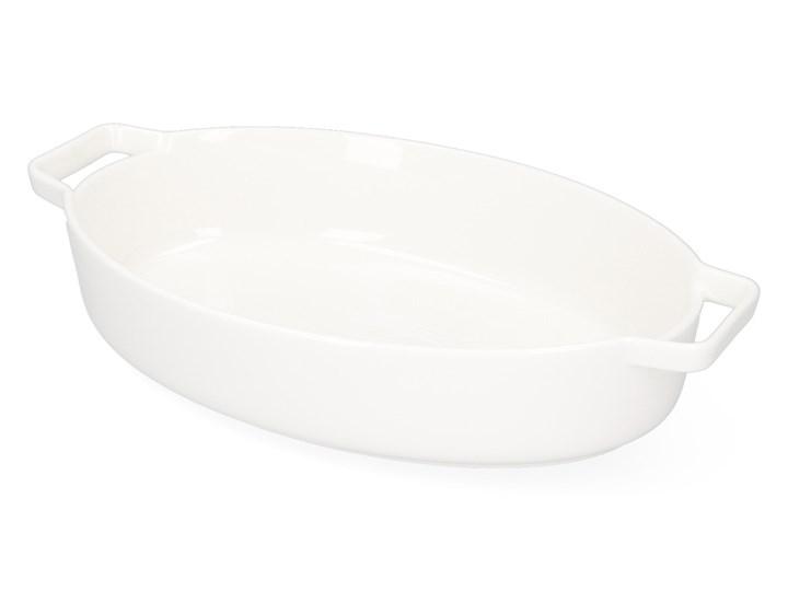 BAKER Naczynie do zapiekania białe 29x18 cm Kolor Biały Kategoria Naczynia do zapiekania