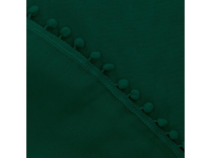 ADI Zasłona z pomponikami zielona 140x250 cm Kolor Zielony Typ Zasłony gotowe