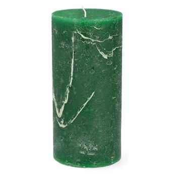 RUSTIC Świeca zielona 7x15 cm