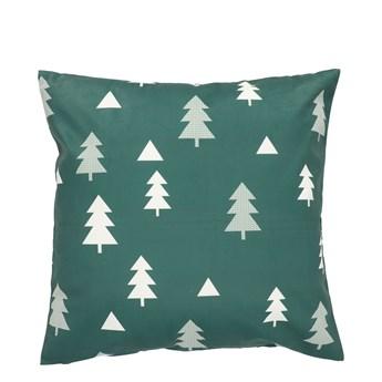 PEMA Poszewka w choinki zielona 45x45 cm