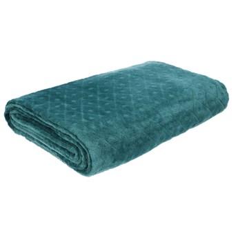 ROZZ Koc we wzory zielony 150x200 cm - Homla