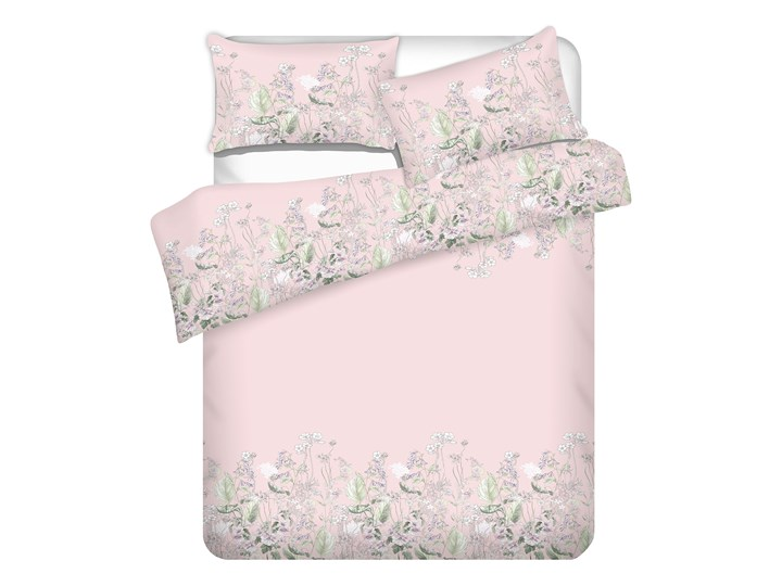 TANGIT Komplet pościeli satynowej w kwiaty 160x200 cm 70x80 cm Rozmiar poduszki 70x80 cm Bawełna Satyna Pomieszczenie Pościel do sypialni