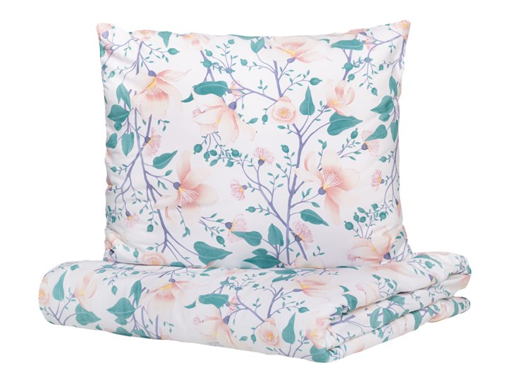 ABALA Komplet pościeli satynowej w magnolie 160x200 cm - Homla