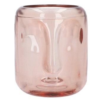 FACE Lampion w kształcie twarzy różowy 7x7x8 cm