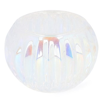 KALLISTO Lampion szklany transparentny 8x8x6 cm