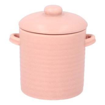 LEIRA Porcelanowy pojemnik różowy 8x10 cm