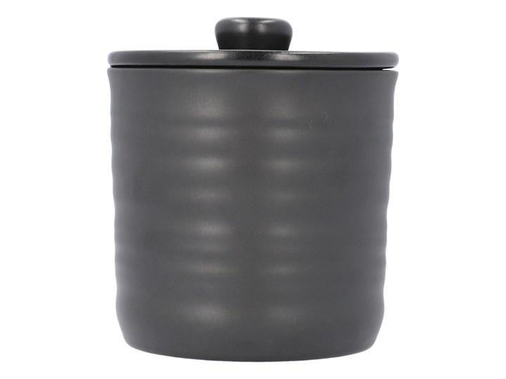 LEIRA Pojemnik czarny 12x13 cm Ceramika Typ Słoiki