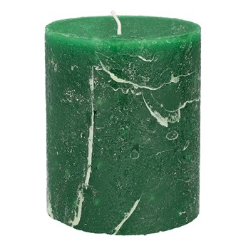 RUSTIC Świeca zielona 7x9 cm
