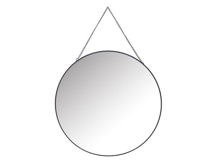 GRAZIA Lustro wiszące czarne 35x35 cm - Homla