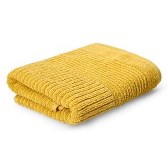 NALTIO Ręcznik w paski musztardowy 50x90 cm