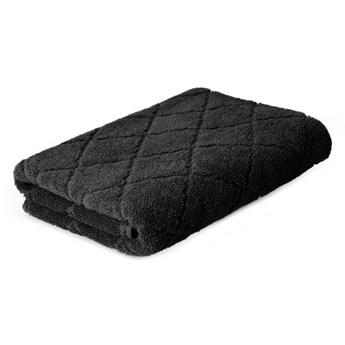 SAMINE Ręcznik z marokańską koniczyną czarny 70x130 cm