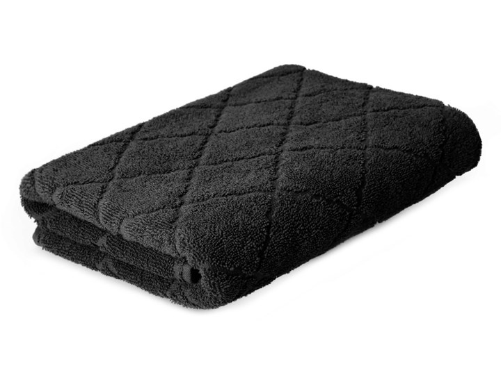 SAMINE Ręcznik z marokańską koniczyną czarny 70x130 cm - Homla