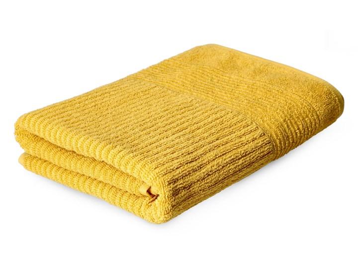 NALTIO Ręcznik w paski musztardowy 70x130 cm - Homla
