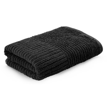 NALTIO Ręcznik w paski czarny 50x90 cm