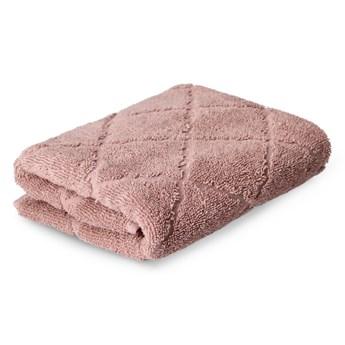 SAMINE Ręcznik z marokańską koniczyną różowy 50x90 cm