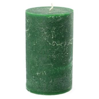 RUSTIC Świeca zielona 7x11 cm