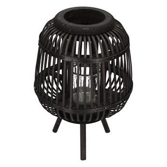 JORT Lampion bambusowy czarny 21x32 cm