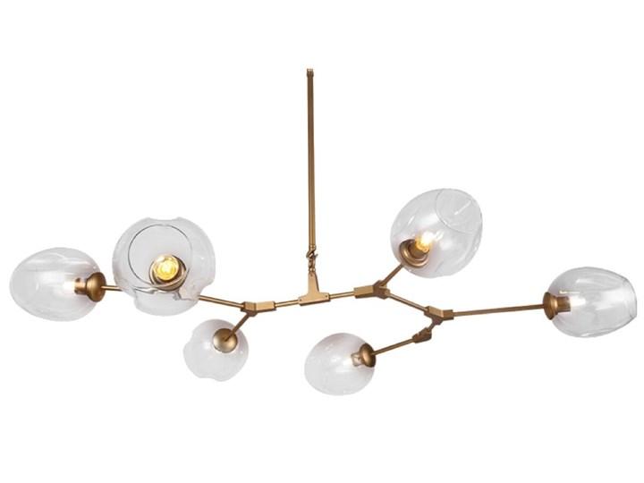 Chemistry gold - 6-punktowa nowoczesna lampa wisząca - różne klosze Metal Lampa z kloszem Szkło Lampa inspirowana Funkcje Brak dodatkowych funkcji