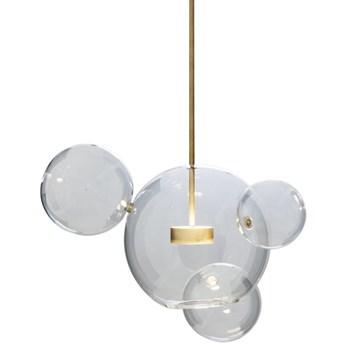 Bubble 4 - duża nowoczesna lampa wisząca - pączkujące szklane kule