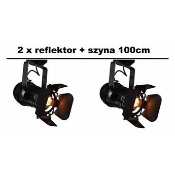 Zestaw: 2 x Reflektor Sceniczny Studio 1 + szyna 1m