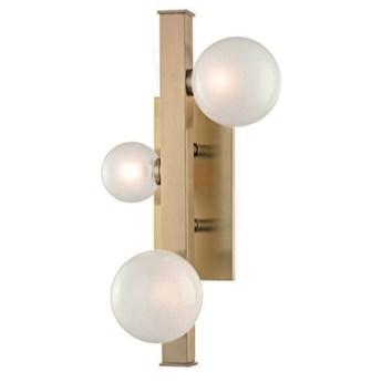 3 Balls at Rod - kinkiet - 3 x mleczna kula