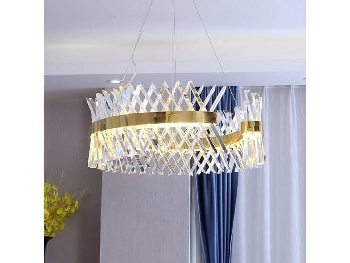 Amsterdam XXX Crystal Prisms - żyrandol kryształowy 80cm Lampa z kryształkami Metal Szkło Styl Nowoczesny Mosiądz Ilość źródeł światła 1 źródło
