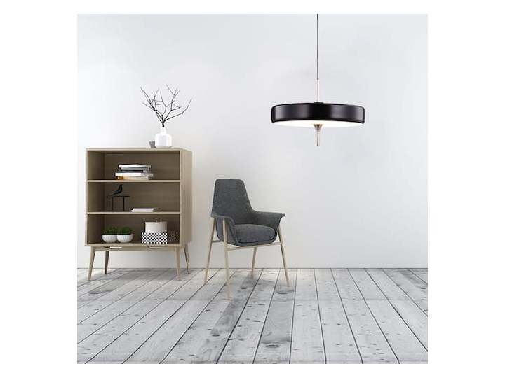 Art Deco 2000 - lampa wisząca czarna Tworzywo sztuczne Szkło Metal Mosiądz Lampa z kloszem Kolor Czarny