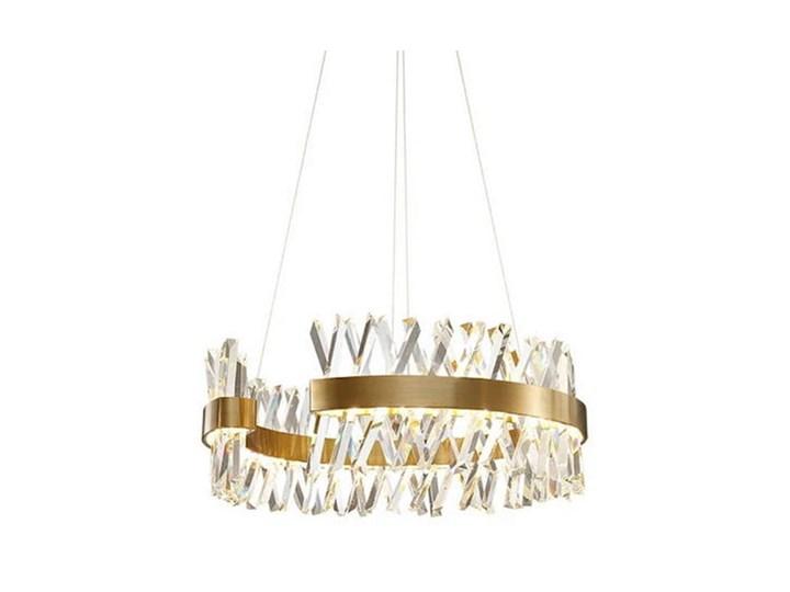 Amsterdam XXX Crystal Prisms - żyrandol kryształowy 80cm Lampa z kryształkami Mosiądz Styl Nowoczesny Metal Szkło Styl Klasyczny