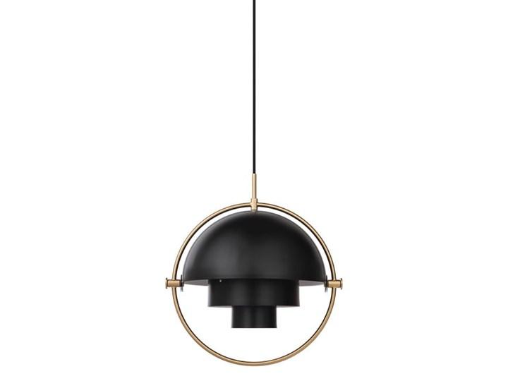 Visor Black - lampa wisząca nowoczesna Mosiądz Lampa z kloszem Funkcje Brak dodatkowych funkcji Metal Ilość źródeł światła 1 źródło