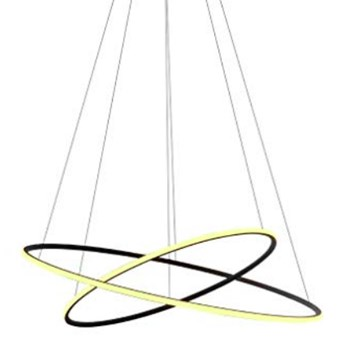 Inverted LED ring double - żyrandol 70cm - podwójny pierścień LED