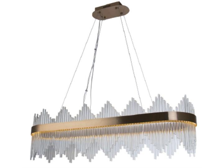 Delhi Crystal Rods Long - 110cm żyrandol LED kryształowy Lampa z kloszem Lampa z kryształkami Metal Mosiądz Ilość źródeł światła 1 źródło Szkło Styl Nowoczesny