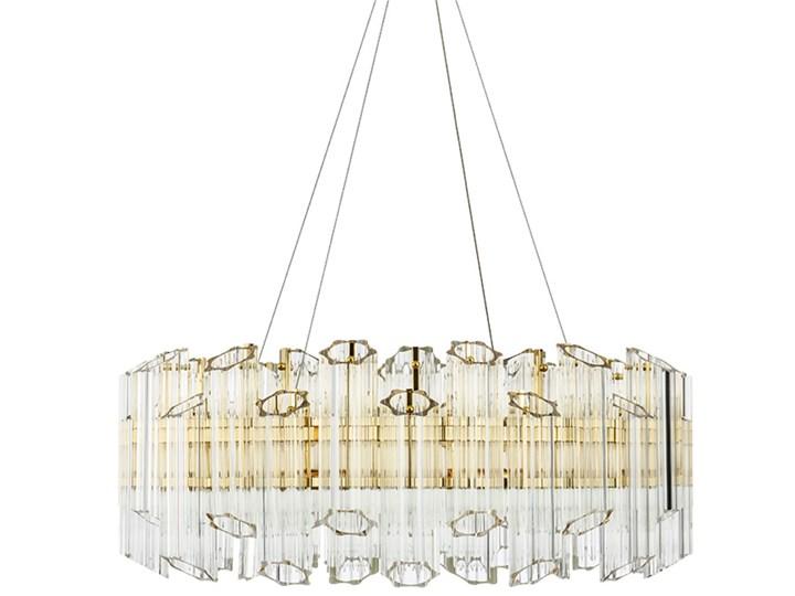 Casablanca Flat 60 - Crystal Tubes - żyrandol kryształowy 60cm Lampa z kloszem Lampa z kryształkami Chrom Szkło Styl Nowoczesny Metal Mosiądz Funkcje Brak dodatkowych funkcji