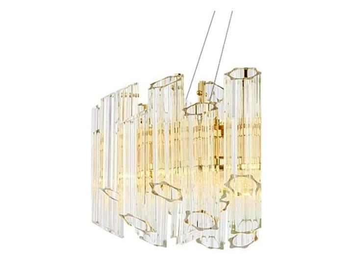 Casablanca Flat 60 - Crystal Tubes - żyrandol kryształowy 60cm Lampa z kloszem Styl Klasyczny Chrom Szkło Mosiądz Lampa z kryształkami Metal Ilość źródeł światła 1 źródło