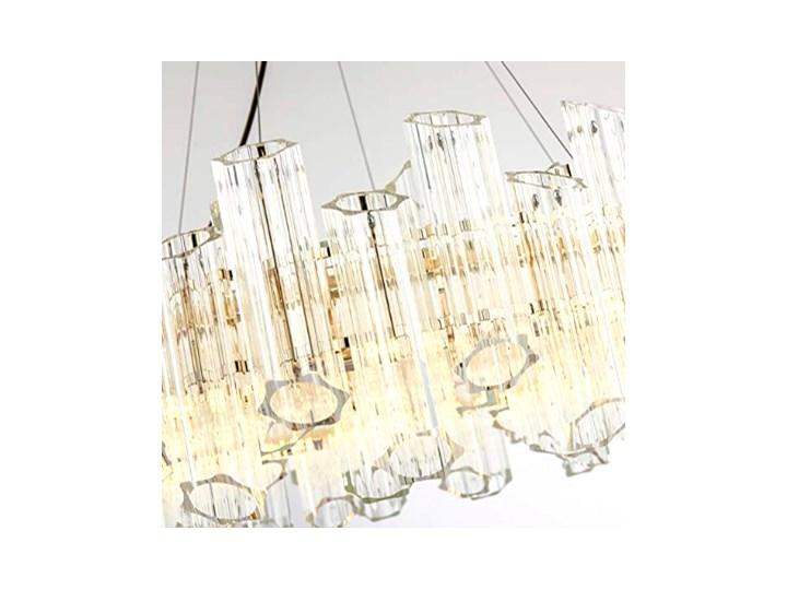 Casablanca Flat 60 - Crystal Tubes - żyrandol kryształowy 60cm Lampa z kloszem Metal Mosiądz Szkło Chrom Lampa z kryształkami Funkcje Brak dodatkowych funkcji Ilość źródeł światła 1 źródło