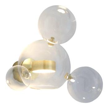 Bubble Wall 2 - nowoczesny kinkiet - pączkujące szklane kule