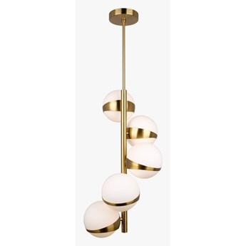 Cilion 5 -  mleczne kule  - nowoczesna lampa wisząca