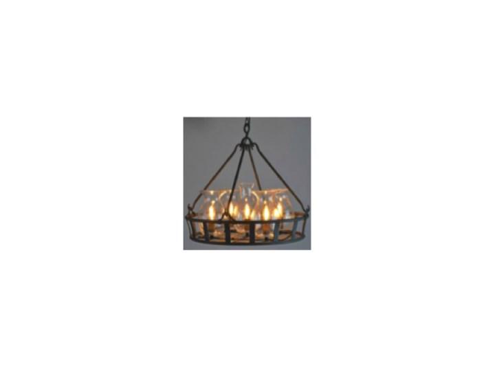 Vintage Jar Chandelier - żyrandol kuty metal + szkło Stal Mosiądz Kategoria Lampy wiszące