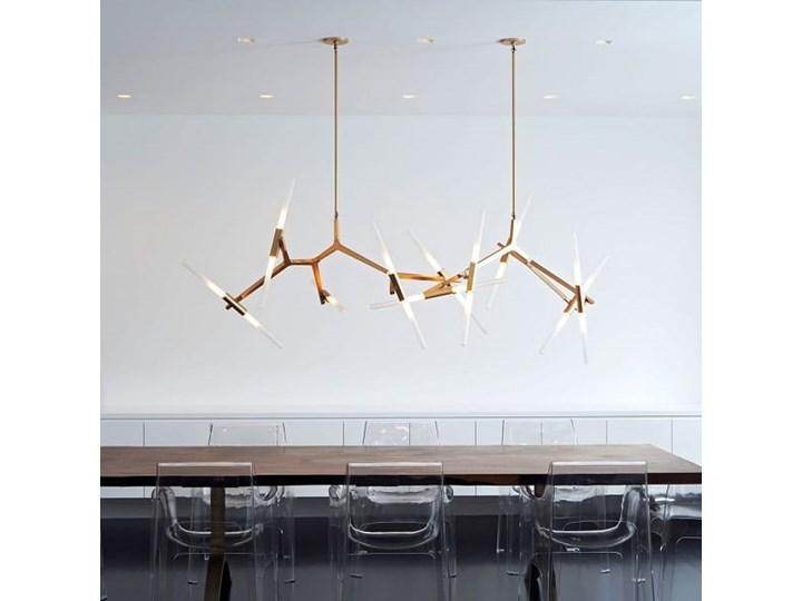 Structura gold - lampa nowoczesna Szkło Pomieszczenie Salon Metal Lampa inspirowana Pomieszczenie Jadalnia