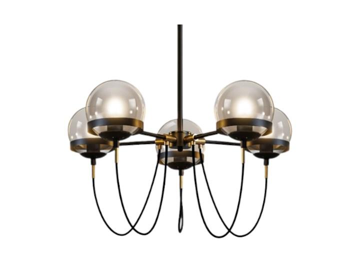 Octopus Medium- żyrandol 60cm Metal Szkło Lampa inspirowana Stal Pomieszczenie Salon